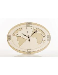 Orologio da parete mappamondo