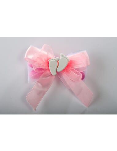 Confezione rosa con piedini in gesso profumato