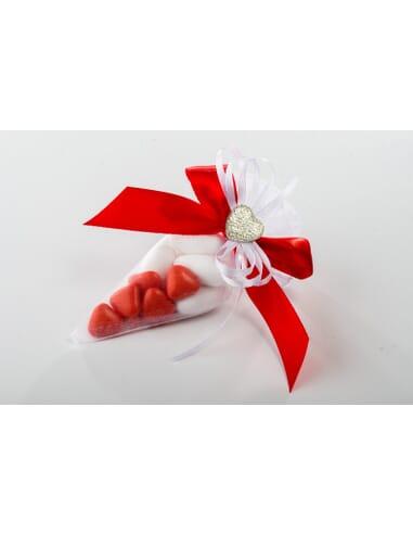 Confezione conetto con bianca e rossa